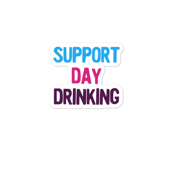 Support Day Drinking Vintage Retro 80s and 90s Style Party product Bubble-free stickers
