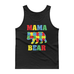 Mama Bear Autism Awareness Puzzle Pieces Tank top