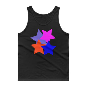 Kids 4 Stars Blue Pink Blue Grey Orange Stylish Design DBK4K Tank top