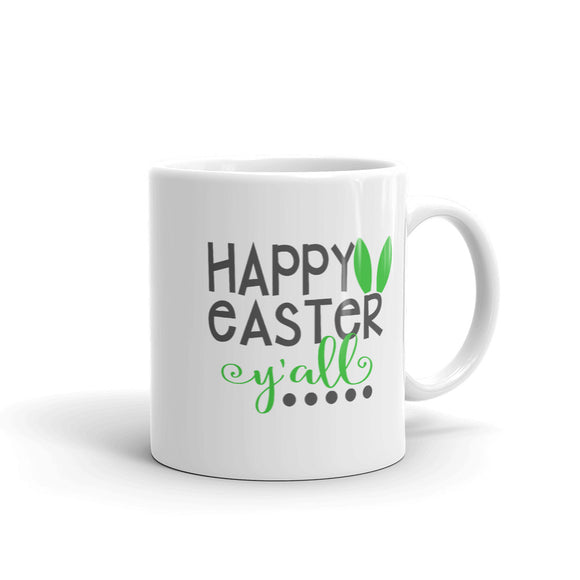 Happy Easter Y'all Cute Bunny Ear Gift Mug