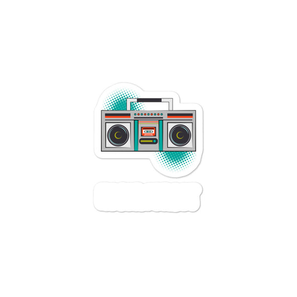Never Forget Retro Vintage Cassette Player Boom Box Graphic Bubble-free stickers