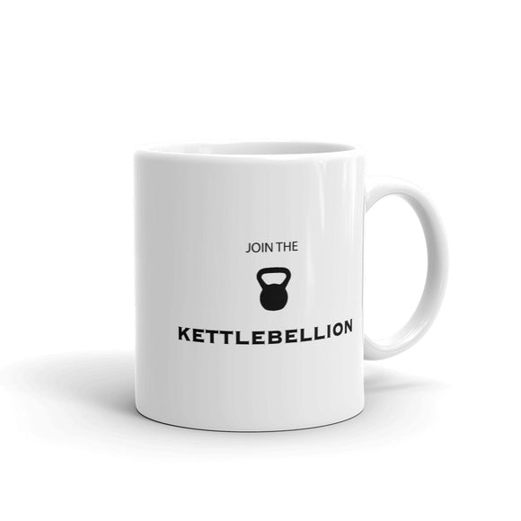Join The Kettlebell Kettlebellion Gym Work-Out graphic Mug