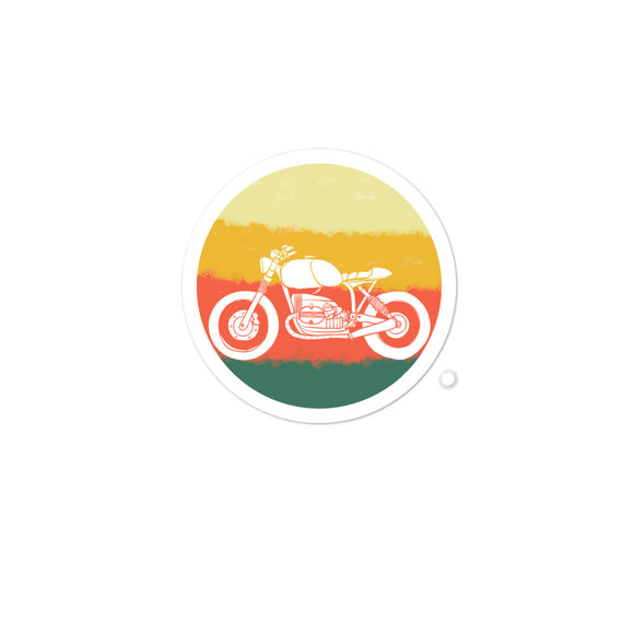 Retro Old School Motorcycle design Bubble-free stickers