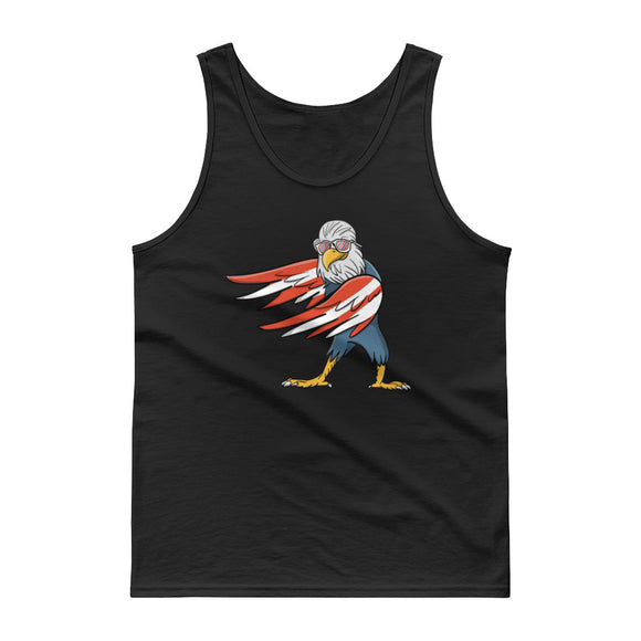 Flossing Floss Dance Bald Eagle Red White And Blue Flag Kids graphic Tank top