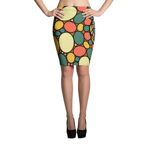 Retro Peace and Tranquility Vintage Zen Stone Garden Pencil Skirt