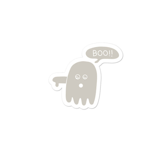 Boo Ghost Disapproving Lazy Halloween Costume design Bubble-free stickers