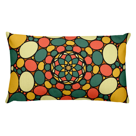 Retro Peace and Tranquility Vintage Zen Stone Garden Premium Pillow