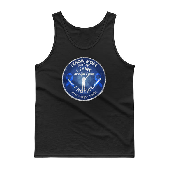 Apraxia Awareness I Know I Think I Notice More Blue Ribbon product Tank top