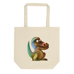 Artistic Dinosaur product Retro Rainbow Vintage Colors Graphic Eco Tote Bag