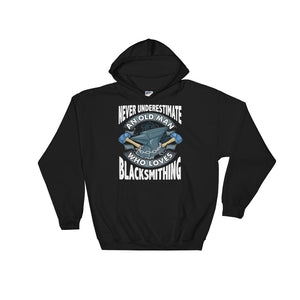 Blacksmith print Gift For Grandfathers Men Uncles Brothers Unisex Hooded Sweatshirt