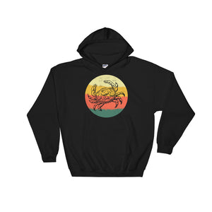 Retro Crab Hand Drawn Graphic Vintage Style graphic Unisex Hooded Sweatshirt