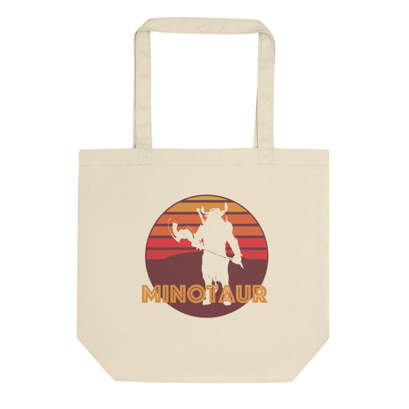 Retro Vintage Minotaur Graphic Logo design Eco Tote Bag