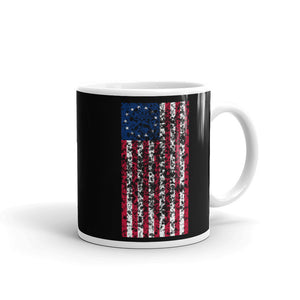 Distressed Grunge Style Vertical Betsy Ross Flag  graphic Mug