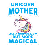 Womens Unicorn Mother graphic Gift Birthday Mothers Day Bubble-free stickers