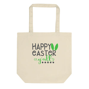 Happy Easter Y'all Cute Bunny Ear Gift Eco Tote Bag