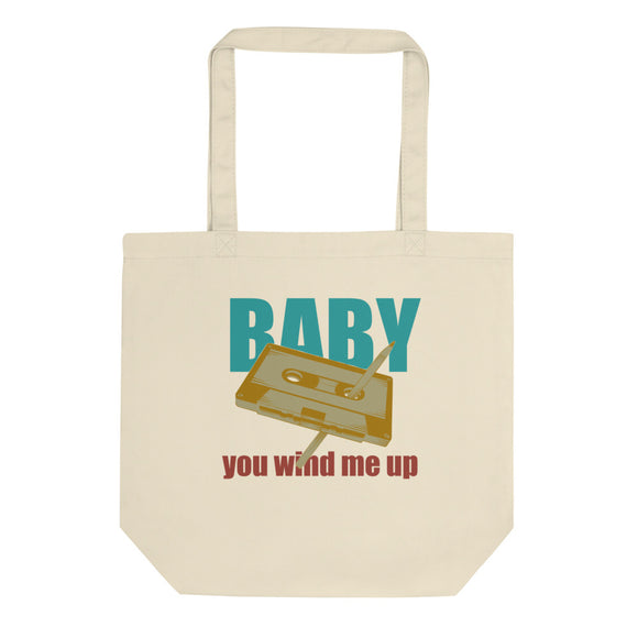 Baby You Wind Me Up Retro Style Vintage Cassette Tape Pen graphic Eco Tote Bag