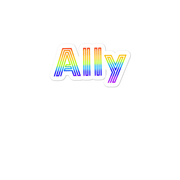 Straight Ally design For LGBT Pride Supporters Bubble-free stickers