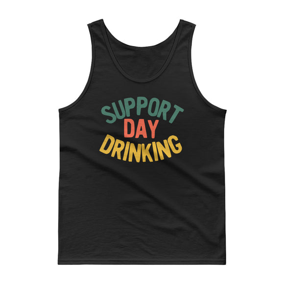Support Day Drinking Vintage 70s 80s Retro Style Funny graphic Tank top
