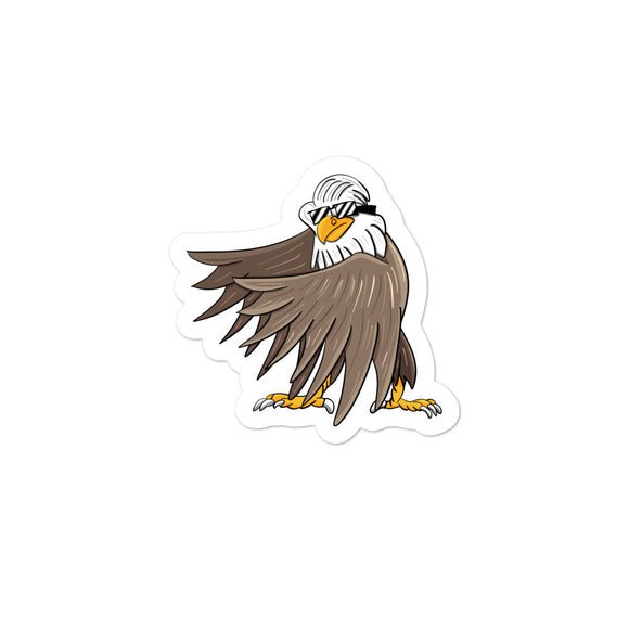Bald Eagle Doing The Floss Dance Graphic graphic Bubble-free stickers