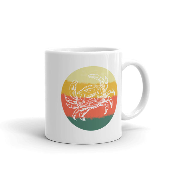 Retro Crab Hand Drawn Graphic Vintage Style graphic Mug