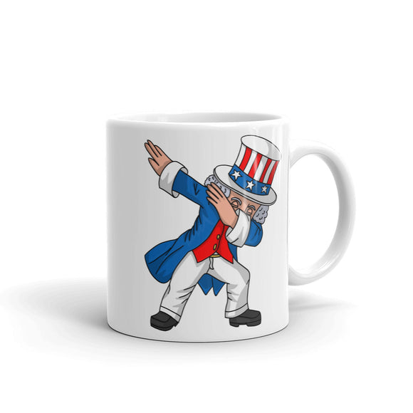 4th of July Party print for Kids Boys Men Dabbing Uncle Sam Mug