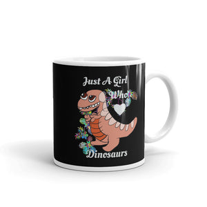 Just A Girl Who Loves Dinosaurs Flower product Mug