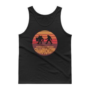 Bigfoot vs Werewolf World Hide and Seek Championship Tank top