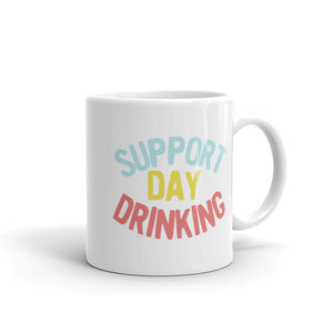 Support Day Drinking Vintage 90s Style Retro Funny Phrase product Mug