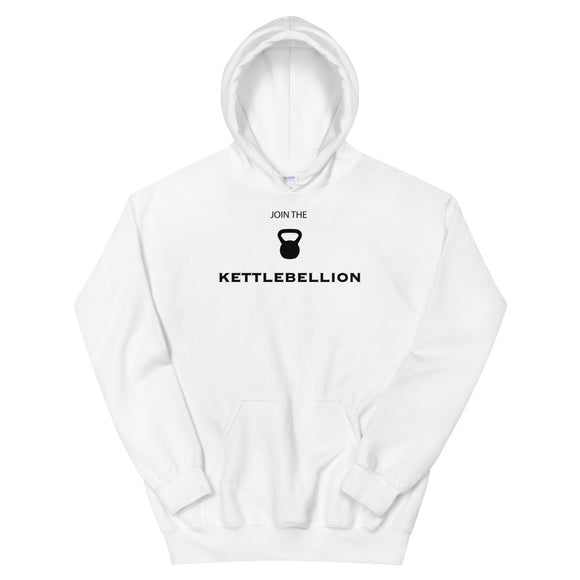 Join The Kettlebell Kettlebellion Gym Work-Out graphic Unisex Hoodie
