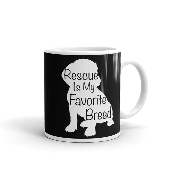 Rescue Dog Owner Rescue Is My Favorite Breed graphic Mug