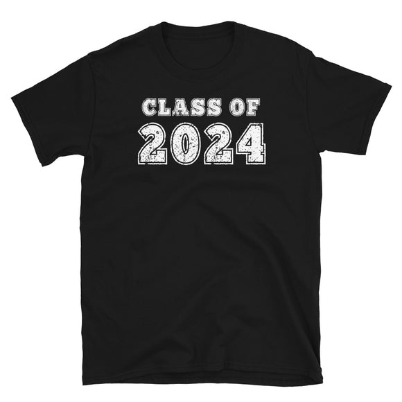 Class of 2024 Distressed Back To School design T-shirt