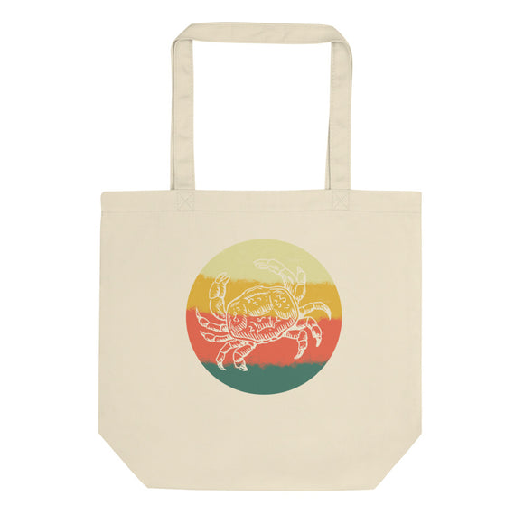 Retro Crab Hand Drawn Graphic Vintage Style graphic Eco Tote Bag