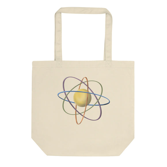 The Atom Retro Style Atomic Model Chemistry Science Graphic product Eco Tote Bag