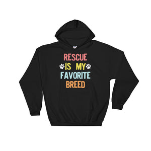Rescued Dog Rescue Is My Favorite Breed 90s Vintage Retro  product Unisex Hooded Sweatshirt