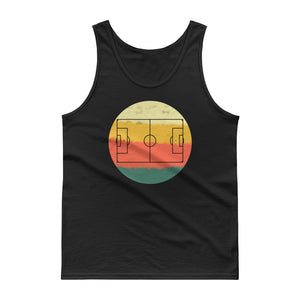 Retro Soccer Football Field Pitch Vintage Style print Tank top