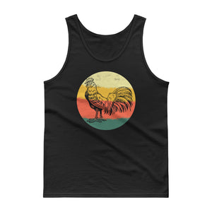 Retro Rooster Hand Drawn Graphic Vintage Style graphic Tank top
