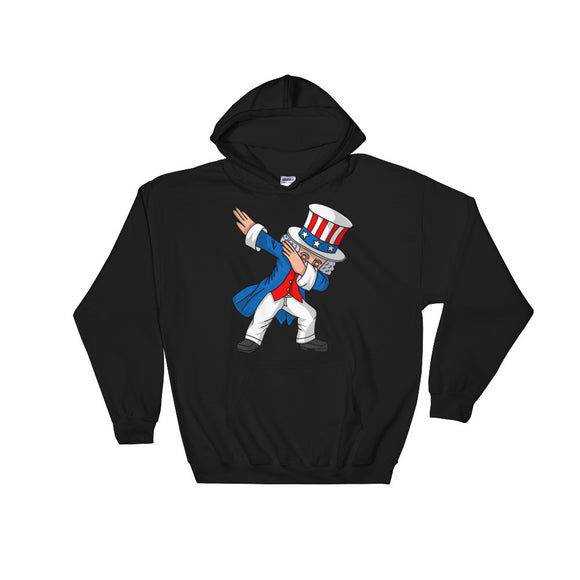 4th of July Party print for Kids Boys Men Dabbing Uncle Sam Unisex Hooded Sweatshirt