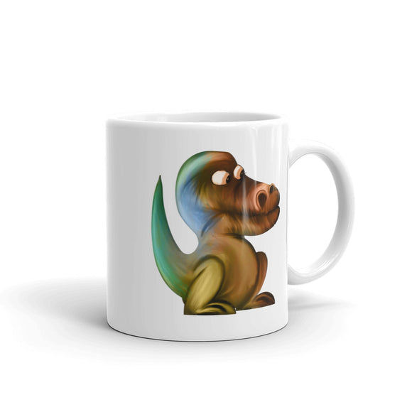 Artistic Dinosaur product Retro Rainbow Vintage Colors Graphic Mug
