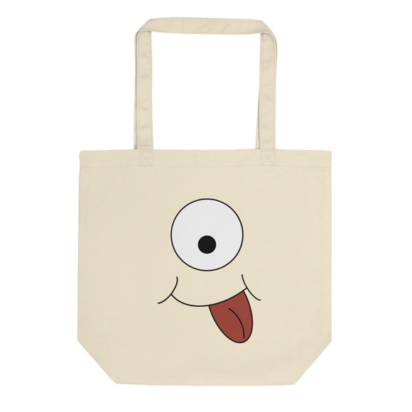 Silly Cyclops Monster Face Design product Eco Tote Bag