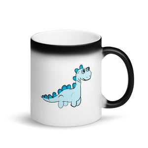 Dinosaur product For Boys and Girls Graphic design Matte Black Magic Mug