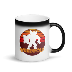 Retro Vintage Werewolf Graphic Logo product Matte Black Magic Mug