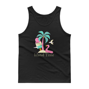 Flamingo Island Time Tropical Vacation Ice Cream Graphic print Tank top