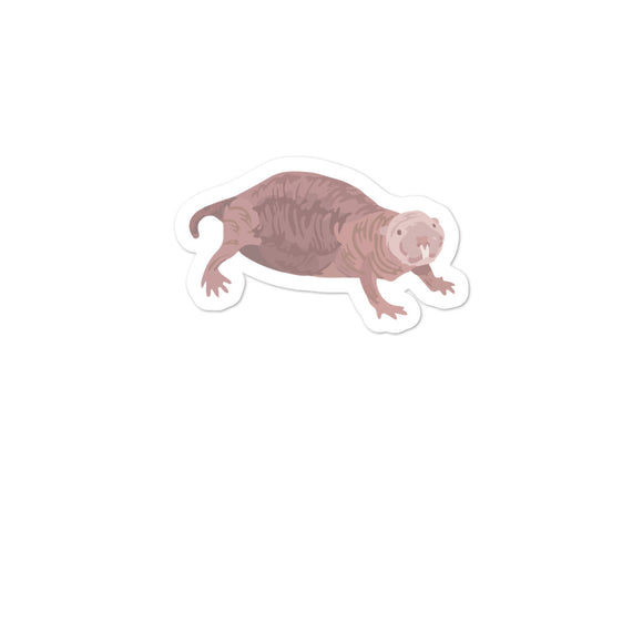 Naked Mole Rat product Bubble-free stickers