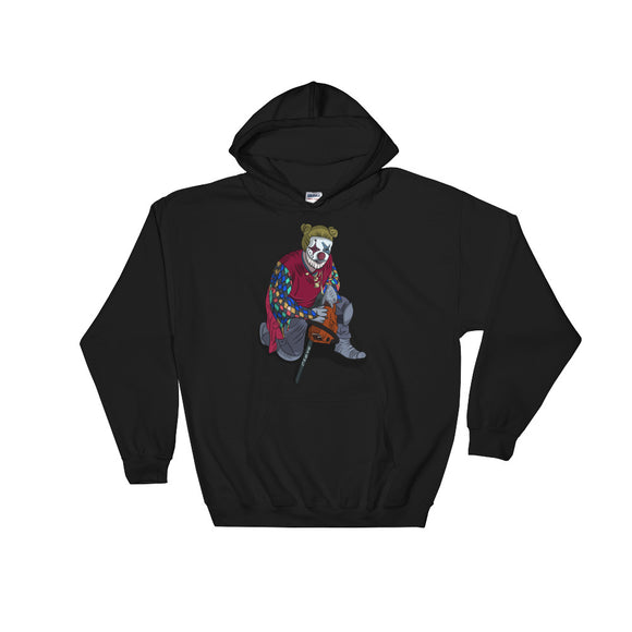 Creepy Clown design Graphic graphic Funny Gift Boys Men and printns Unisex Hooded Sweatshirt