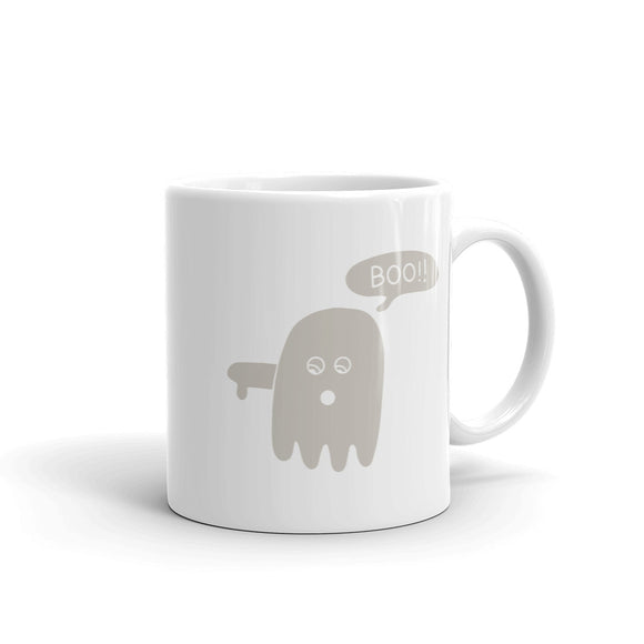 Boo Ghost Disapproving Lazy Halloween Costume design Mug