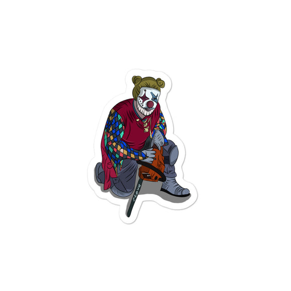 Creepy Clown design Graphic graphic Funny Gift Boys Men and printns Bubble-free stickers