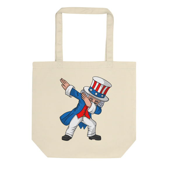 4th of July Party print for Kids Boys Men Dabbing Uncle Sam Eco Tote Bag