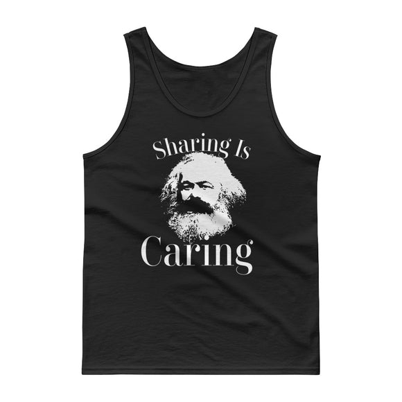 Funny Karl Marx Socialism Sharing is Caring design Tank top