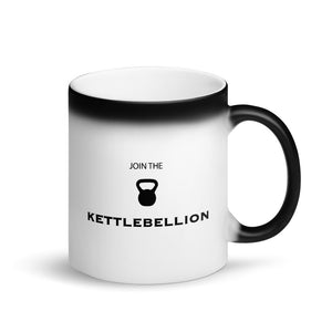 Join The Kettlebell Kettlebellion Gym Work-Out graphic Matte Black Magic Mug