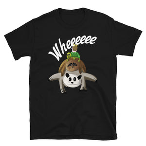 Funny Worm Riding Snail Turtle Sloth Panda Kids Graphic graphic T-shirt